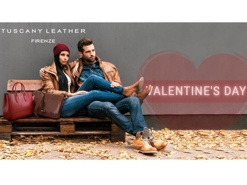 Geanta din piele naturala marca Tuscany Leather Italia