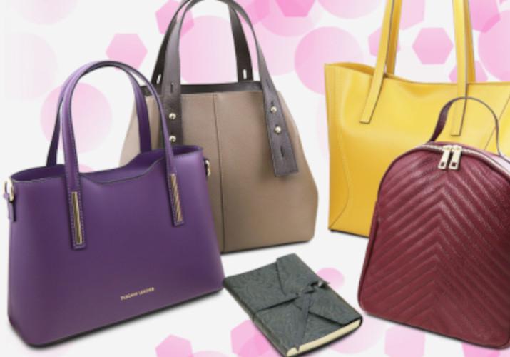 Genti dama la moda 2021 din piele Tuscany Leather