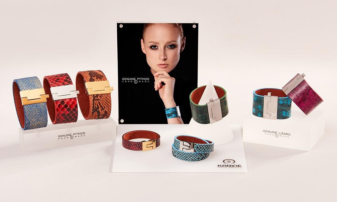 Brățări Karine Handmade din piele exotică