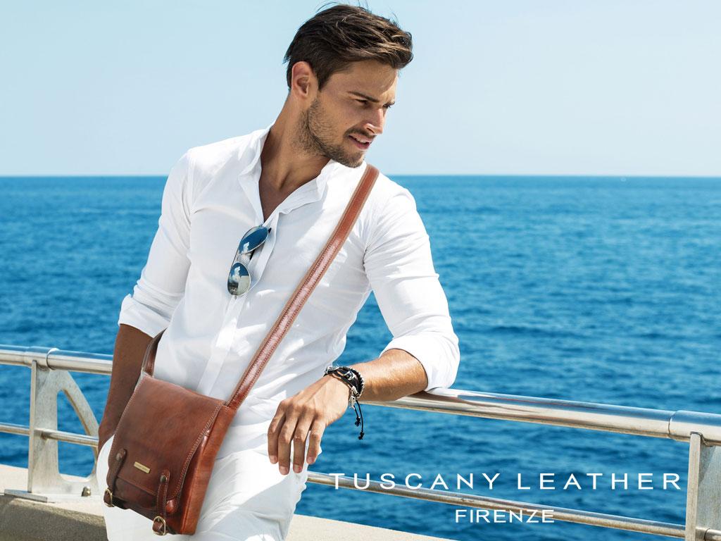 Borseta din piele naturala Tuscany Leather Italia