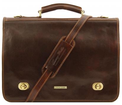 Geanta messenger barbati din piele naturala Tuscany Leather