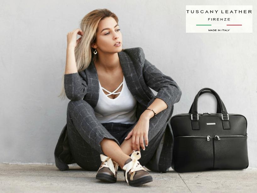 Genti laptop din piele naturala Tuscany Leather