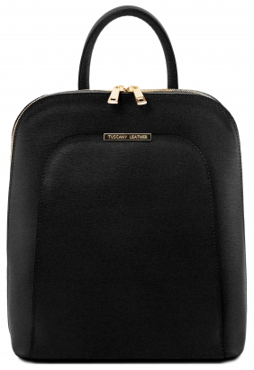Rucsac_negru_elegant_dama_din_piele_naturala_Tuscany_Leather