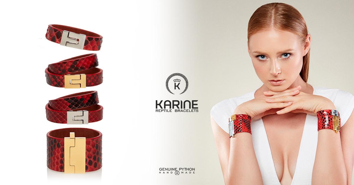 Bratari din piele naturala de piton Karine