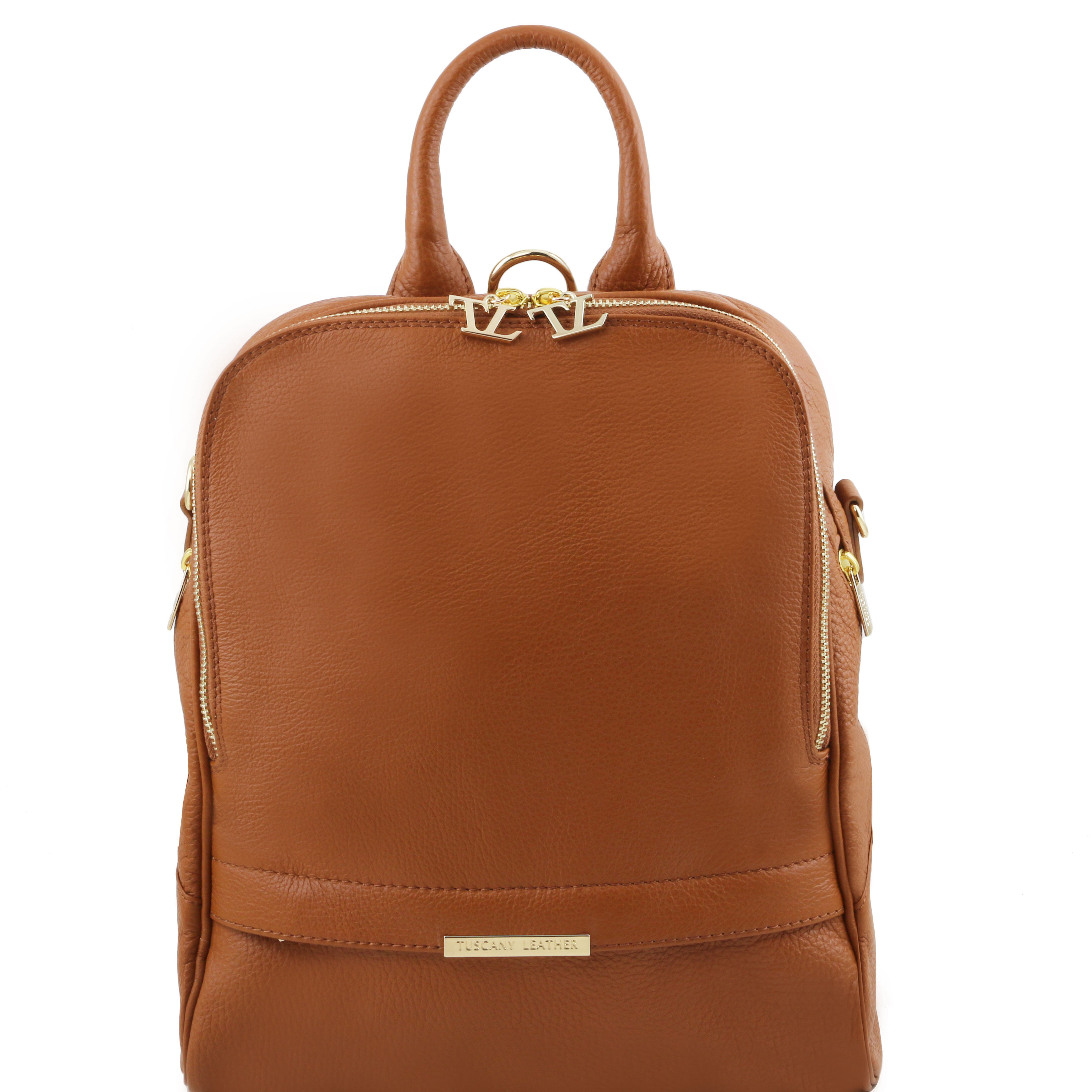TL Bag Rucsac din piele cognac