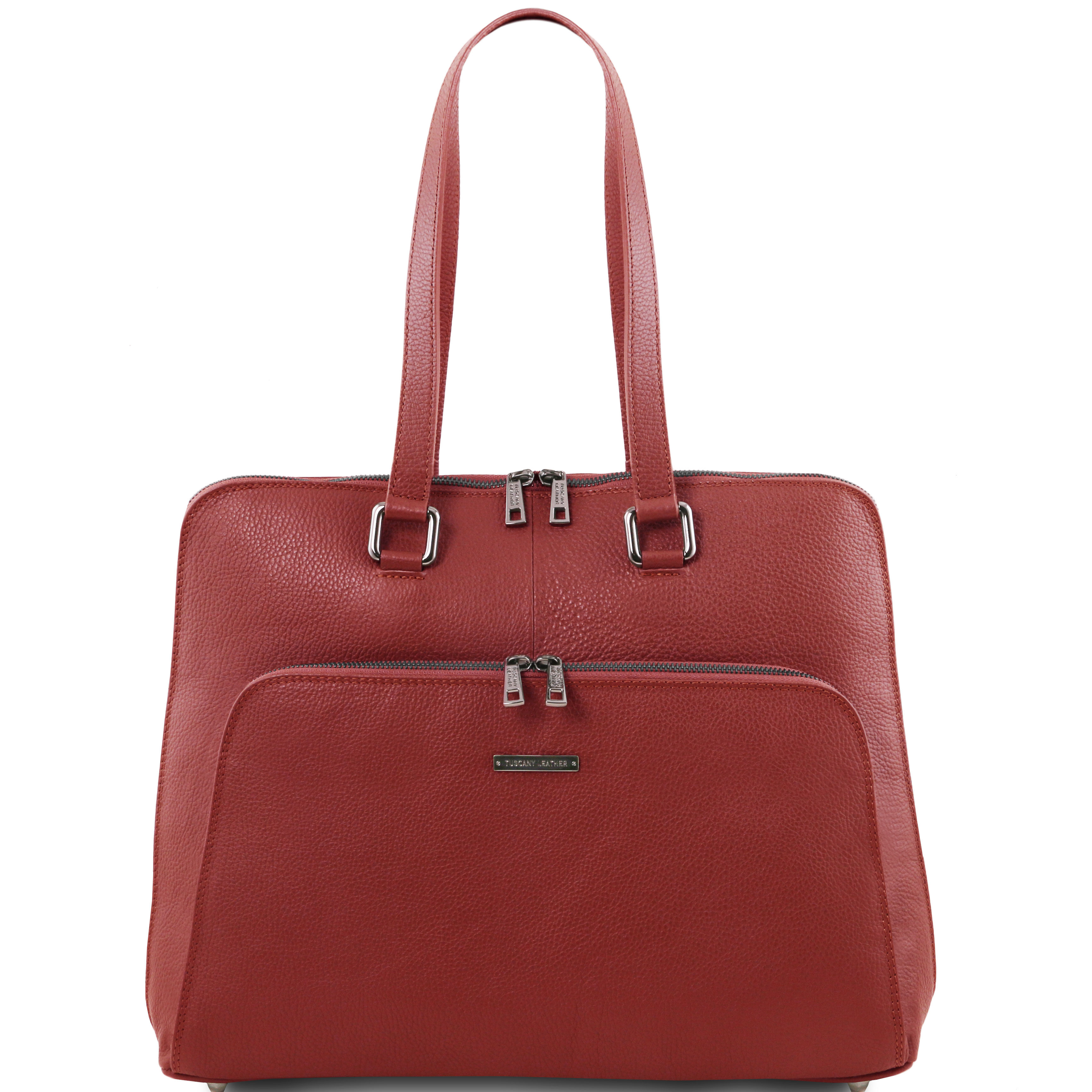 LUCCA - TL SMART Geanta business rosie piele soft