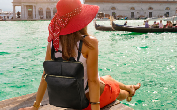 Rucsacuri dama din piele naturala Tuscany Leather