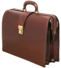 Geanta diplomat din piele naturala Tuscany Leather