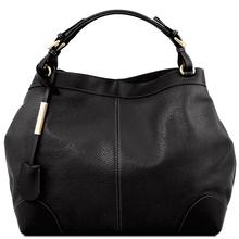 Geanta de mana Tuscany Leather din piele neagra Ambrosia