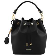 Geanta dama de mana Tuscany Leather din piele neagra Vittoria