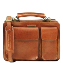 Geanta dama din piele naturala Tuscany Leather, honey, Tania