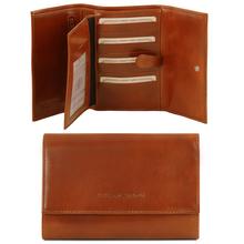 Portofel dama Tuscany Leather din piele honey