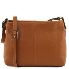 Geanta piele naturala dama Tuscany Leather, coniac