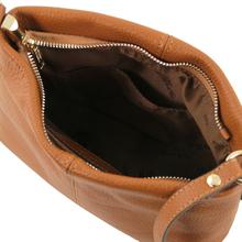 Geanta coniac din  piele naturala dama Tuscany Leather