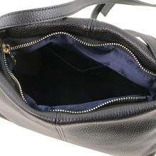 Geanta piele naturala dama Tuscany Leather, neagra