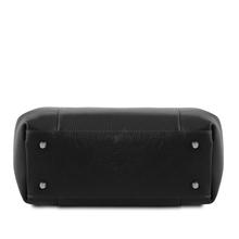 Geanta  din piele naturala Tuscany Leather, neagra, Tulipan