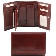 Portofel dama Tuscany Leather din piele naturala maro