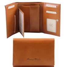 Portofel dama Tuscany Leather din piele naturala honey