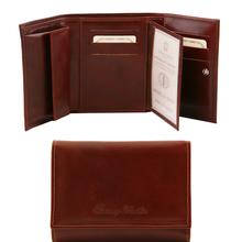 Portofel dama din piele naturala Tuscany Leather, maro