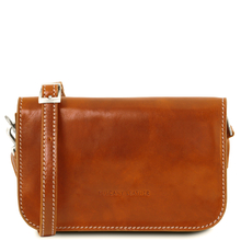 Geanta piele naturala dama Tuscany Leather, honey, Carmen