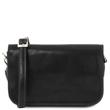Geanta piele naturala dama Tuscany Leather, neagra, Carmen