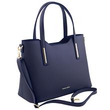 Geanta dama din piele albastru inchis Tuscany Leather, Olimpia