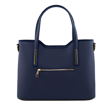 Geanta piele naturala dama Tuscany Leather, albastru inchis, Olimpia