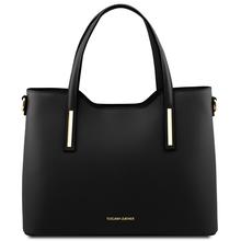 Geanta dama piele naturala Tuscany Leather, neagra, Olimpia