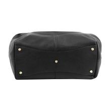 Geanta shopper Tuscany Leather din piele naturala neagra Cinzia