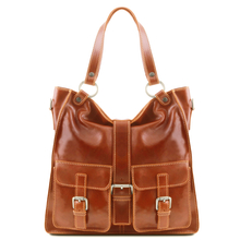 Geanta piele naturala dama Tuscany Leather, honey, Melissa