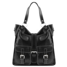 Geanta piele naturala dama Tuscany Leather, neagra, Melissa