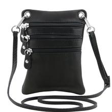 Geanta umar Tuscany Leather din piele neagra Mini
