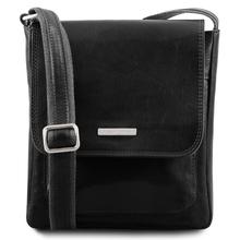 Geanta piele naturala barbati Tuscany Leather, neagra, Jimmy