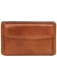 Borseta de mana Tuscany Leather din piele naturala honey Denis