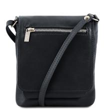 Geanta piele barbati Tuscany Leather, neagra, Sasha