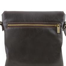 Geanta de umar barbati Tuscany Leather din piele naturala maro inchis Morgan