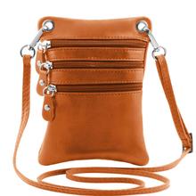 Geanta piele naturala Tuscany Leather, coniac, Minicross