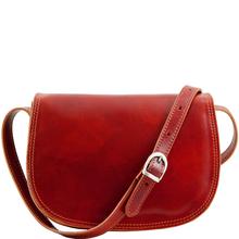 Geanta dama de umar din piele naturala Tuscany Leather, rosie, Isabella