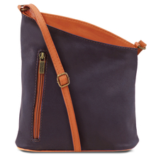 Geanta unisex Tuscany Leather din piele naturala albastru inchis TL Bag