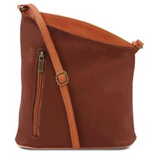 Geanta unisex Tuscany Leather din piele naturala maro TL Bag