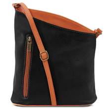 Geanta unisex Tuscany Leather din piele naturala neagra TL Bag