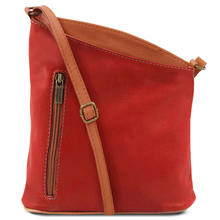 Geanta unisex Tuscany Leather din piele naturala lipstick red TL Bag