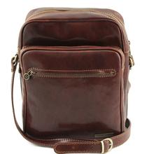 Geanta barbati din piele naturala Tuscany Leather, maro, Oscar
