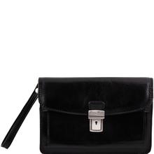 Borseta din piele naturala Tuscany Leather neagra Max