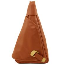 Rucsac dama din piele naturala Tuscany Leather, coniac, Hanoi