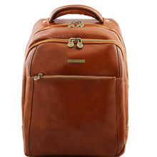 Rucsac laptop din piele naturala Tuscany Leather, honey, Phuket
