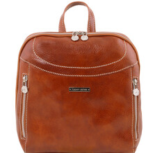 Rucsac Tuscany Leather din piele honey Manila
