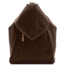 Rucsac  Tuscany Leather din piele maro inchis Delhi