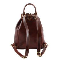 Rucsac din piele Tuscany Leather honey Tokyo
