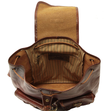 Rucsac din piele Tuscany Leather maro Tokyo